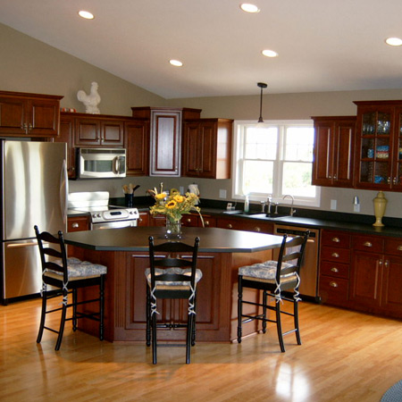 Custom kitchen cabinets by keller cabinets inc for Wallace custom homes